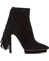 Nasty Gal Jeffrey Campbell Sampson Leather Boot - Lyst