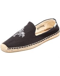 Soludos Linen Smoking Slippers - Lyst