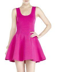 Sonia by Sonia Rykiel Fuchsia Piped Fit & Flare Dress - Lyst