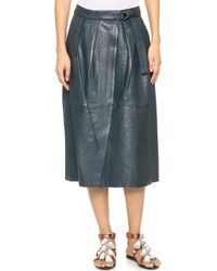 Giada Forte - Leather Wrap Skirt - Lyst