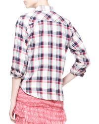 Etoile Isabel Marant Ugo Plaid Buttondown Shirt - Lyst