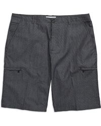 Calvin Klein Black Checkered Shorts - Lyst