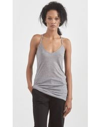 Zadig & Voltaire Terina Camisole gray - Lyst