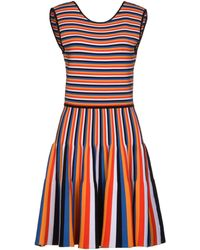 Issa Red Short Dress - Lyst