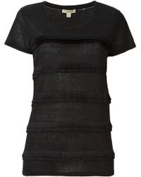 Burberry | Fringed T-shirt | Lyst