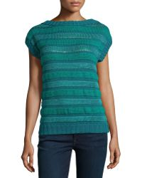 Philosophy di Alberta Ferretti Textured-Stripe Knit Sweater multicolor - Lyst