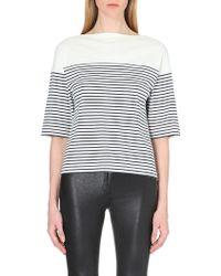 Theory Cibella Striped Cotton-Jersey T-Shirt - For Women - Lyst