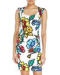 Love Moschino Sleeveless Floral Print Dress - Lyst