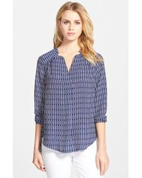 Pleione Shirred Shoulder Blouse - Lyst