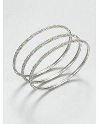 ABS By Allen Schwartz - Pavé Bangle Bracelet Set - Lyst