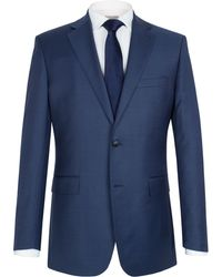 Alexandre Savile Row Sharkskin Notch Single Breasted Suit Jacket - Lyst