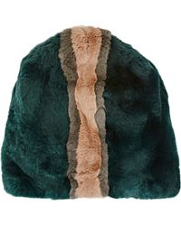 Marni - Striped Fur Hat - Lyst