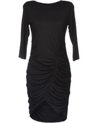 Tara Jarmon Gray Kneelength Dress - Lyst