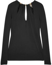 Emilio Pucci Chain Embellished Cut Out Wool Sweater - Lyst