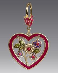 Jay Strongwater - Heart & Flowers Key Ring - Lyst