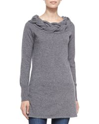 Sofia Cashmere Braided-neck Cashmere Sweater - Lyst