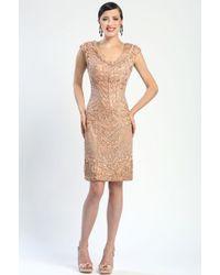 Sue Wong Double V Soutache Dress - Lyst