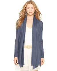 Polo Ralph Lauren Draped Open-Front Cardigan - Lyst