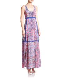 Nanette Lepore Panama City Maxi Dress purple - Lyst