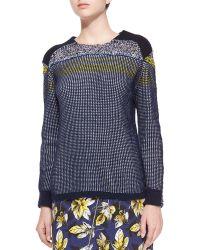 Risto - Mixed-stitch Long-sleeve Knit Sweater - Lyst
