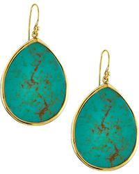 Tai - Gold-plated Turquoise-color Drop Earrings - Lyst