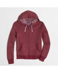 J.Crew Factory Fleece Full Zip Hoodie - Lyst