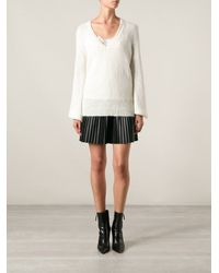 Ermanno Scervino Billowing Sleeves V Neck Sweater - Lyst