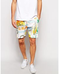 Soulland - Shorts With All Over Print - Lyst