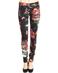 Balenciaga Jeans Denim Landscape Printed Regular Waist Ankle Zip - Lyst