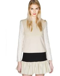 Pixie Market Lace Charmer Sweater - Lyst