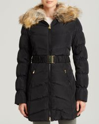 Laundry by Shelli Segal - Coat - Windbreaker With Faux Fur Collar - Lyst