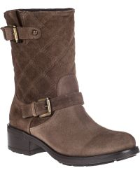 Aquatalia by Marvin K | Sherry Biker Boot Mud Suede | Lyst