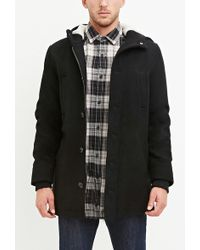 Forever 21 - Wool-blend Hooded Coat - Lyst