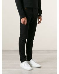 Moschino Slim Fit Trousers - Lyst