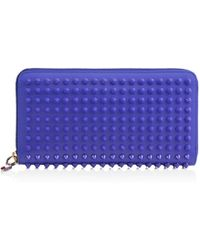 Christian Louboutin Panettone Spikes Wallet blue - Lyst