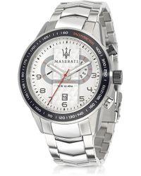 Maserati - Corsa Chronograph Stainless Steel Mens Watch - Lyst