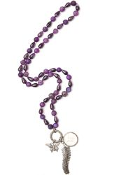CB Bronfman - Purple 3 Diamond Charms Necklace - Lyst