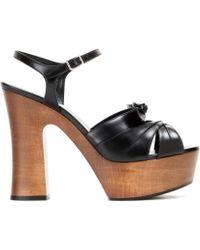 Saint Laurent Leather Sandals - Lyst