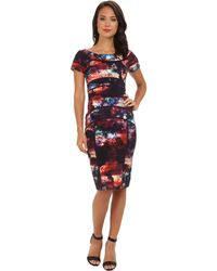 Nicole Miller Karina Power Net Dress - Lyst