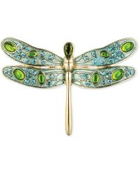 Jones New York - Gold-Tone Epoxy Stone And Crystal Dragonfly Pin - Lyst