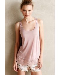 Bordeaux Tissue Lace Tank - Lyst