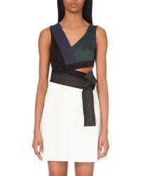 3.1 Phillip Lim Colour-Block Crepe Dress - For Women - Lyst