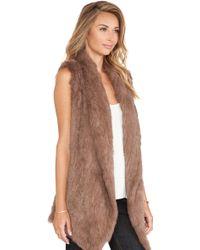 June Knitted Rabbit Fur Vest - Lyst