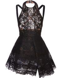 Elie Saab Black Lace Halter Dress - Lyst