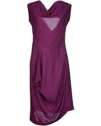 Vivienne Westwood Anglomania Purple Knee-length Dress - Lyst
