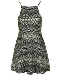 Topshop Square Neck Zig-Zag Dress - Lyst
