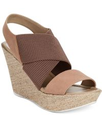 Kenneth Cole Reaction Sole Less Platform Wedge Sandals - Lyst