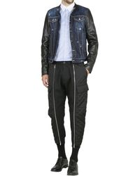 DSquared2 Denim and Nappa Leather Jacket - Lyst