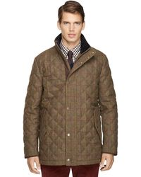 Brooks Brothers Tattersall Diamond Quilted Jacket - Lyst