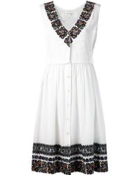 Suno Wide Tank Dress - Lyst